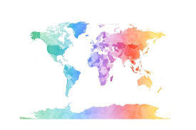 World Map Posters Watercolor Map Of The World Map