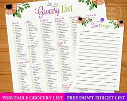 grocery checklist grocery checklist etsy