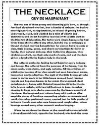 necklace by guy de maupassant short story unit resources and  the necklace by guy de maupassant short story unit resources and activites
