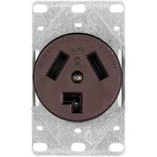 eaton commercial and industrial 30 amp flush mount dryer power eaton commercial and industrial 30 amp flush mount dryer power receptacle 3 wire non grounding brown 38b box the home depot
