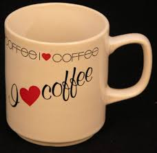 coffee cups with coffee love.  Coffee Le Chat Noir Boutique I LOVE COFFEE Coffee Mug  Made In Japan Misc  Mugs CMILoveCoffee With Cups Love E