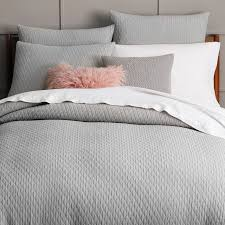 ripple texture duvet cover shams platinum west elm