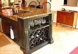 10 photos to Kitchen island with wine storage