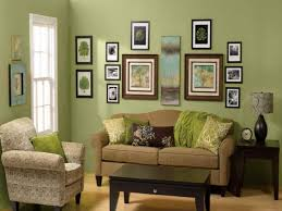Living Room:Dazzling Green Living Room Wall Ideas Combine Frame Picture Wall  Art Also Brown Fabric Sofa And Wooden Coffee Table Plus Tall White Frame  Window ...