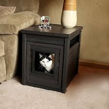 Wooden Litter Box Cabinets How To Reduce Tracking In Cat Litter Box Furniture Home