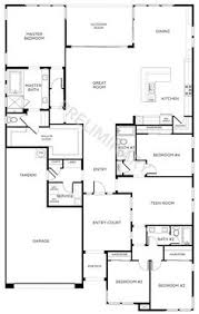 floor plan of a one story house. Floor Plan-2 | 4 Beds, 3 Baths - Single Story New Homes ( Plan Of A One House