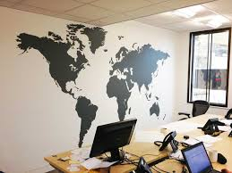 office world map. interesting office extra large world map vinyl wall sticker in by impression and office a