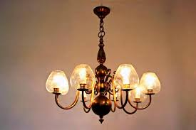hand blown art glass chandelier