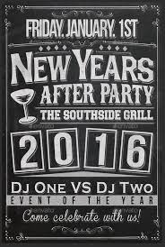 new years chalkboard flyer template