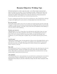 Resume Sample Sample Objective Writing Tips Resume Free Download