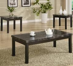 Marble Living Room Table Set Coffee Tables Ideas Modern Black Marble Coffee Table Set White