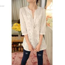 Designer Womens White Blouse 2019 Women Designer Shirts White Women Clothing Loose Notch