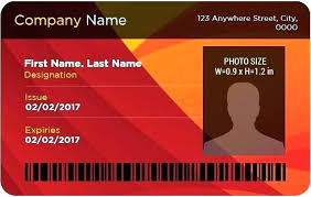 Free Photo Id Card Template Personal Identity Employee