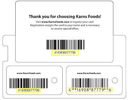 Personal Info Cards Register A Card Karns Fresh Rewards