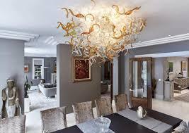 Großhandel 100 Mundgeblasener Kronleuchter Der Glaskunst Led Hängende Deckenleuchter Aus Muranokristall Elegante Lampe In Blumenfarbe Von
