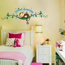 Bedroom Lovely Monkey Bedroom Decor For Kid With White Bed And Small