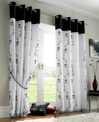 Black and White Bedroom Curtains 20 Double Curtains for Living Room ...