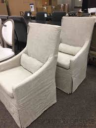 restoration hardware slipcovered dining room chairs
