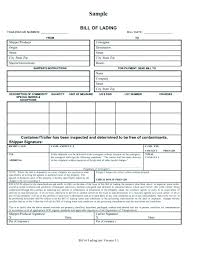 Bill Of Lading Free Form Free Bill Lading Template Beautiful Forms Templates Lab