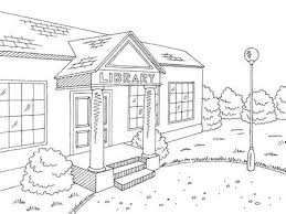library building clipart black and white. Perfect And Library Building Exterior Graphic Black White Sketch Illustration Vector  Stock Vector  105276478 Intended Building Clipart Black And White O