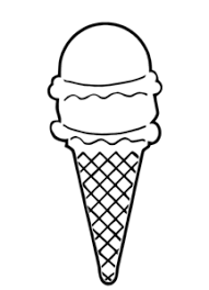 ice cream clipart black and white.  Clipart Ice Cream Cone Outline Clip Art Throughout Clipart Black And White R