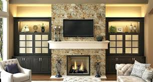 cabinet next to fireplace built tv cabinet fireplace mantel