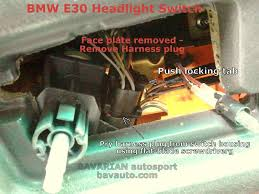 e headlight switch wiring diagram e image bmw e30 headlight switch removal diy 325i and others bavarian on e30 headlight switch wiring diagram