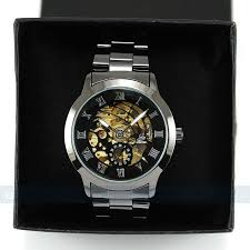 gift watches online picture more detailed picture about shipping titanium black automatic skeleton mechanical mens watch hot brand watches men coolest gifts for