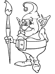 Small Picture Elf Coloring Pages