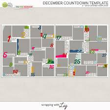 countdown templates digital scrapbook template december countdown scrapping with liz