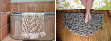 conits rag bath mat and doily rug