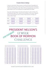 Book Of Mormon Challenge Church Relief Society Book Of