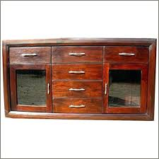 buffet with glass doors. Glass Door Sideboards Rustic Wood Buffet 6 Storage Drawers Credenza And Buffets With Doors