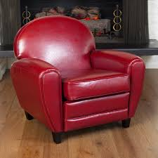 Oversized Ruby Red Leather Club Chair by Christopher Knight Home - Free  Shipping Today - Overstock.com - 13598086