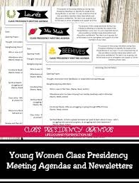 Class Agendas Lifes Journey To Perfection Young Women Class Presidency Meeting