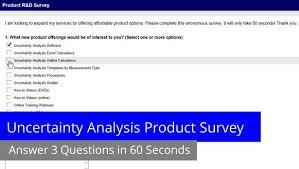 Product Survey Templates Interesting Uncertainty Analysis Product Survey Isobudgets
