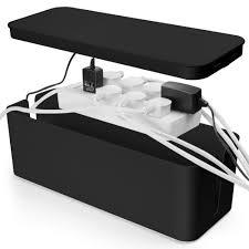 Cable Management Box Cord Organizer - Black Large 16