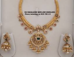 Gold Necklace Designs In 80 Grams With Price Light Weight Kanthi Necklaces New Designs Gorgeous 22k Gold