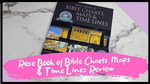 Rose Book Of Bible Charts Maps And Timelines Rose Book Of Bible Chart Maps Time Lines Vol 1 Book Review