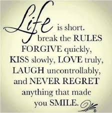 Cute inspirational quotes Cute Relationship quotes life rules smile Life Quotes 54