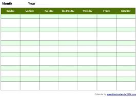 Blank Monthly Calendar Template Excel Running In Download Without