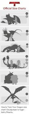 2 Official Size Charts How To Train Your Dragon Size Chart