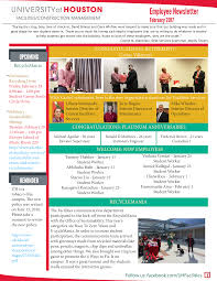 February Newsletter Template February Newsletter English Templates At