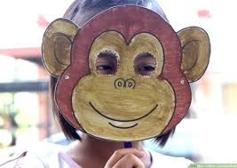 How To Make Face Mask From Chart Paper How To Make A Monkey Mask With Pictures Wikihow