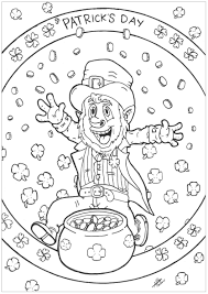 Leprechaun Patrick Day St Patrick S Day Adult Coloring Pages