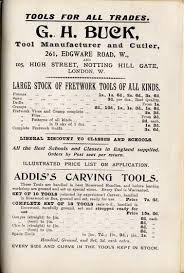 old book add of fretwork and carving tools
