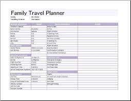 U Template Travel Directions By Car U Map Trip Planner Excel Family Template