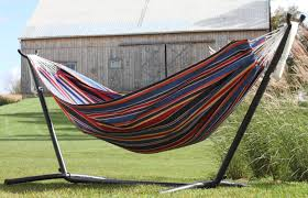 Double Polyester Hammock with Stand
