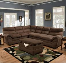 simmons sectional. simmons upholstery 9515 casual sectional sofa - item number: 9515lafbumpsofa+rafsofa-chocolate h
