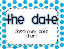 Classroom Date Chart Months Days Ordinal Numbers Polka Dots